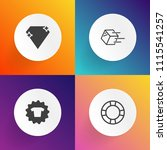 modern  simple vector icon set... | Shutterstock .eps vector #1115541257