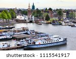 amsterdam city view with... | Shutterstock . vector #1115541917