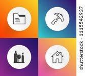 modern  simple vector icon set... | Shutterstock .eps vector #1115542937