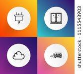 modern  simple vector icon set... | Shutterstock .eps vector #1115543903