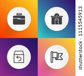 modern  simple vector icon set... | Shutterstock .eps vector #1115545913