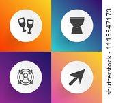 modern  simple vector icon set... | Shutterstock .eps vector #1115547173