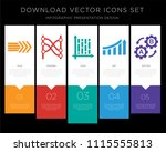5 vector icons such as right... | Shutterstock .eps vector #1115555813