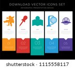 5 vector icons such as europe ... | Shutterstock .eps vector #1115558117