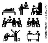 gambling casino people man host ... | Shutterstock .eps vector #111557897