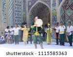 bukhara  uzbekistan   may 26 ... | Shutterstock . vector #1115585363