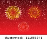 abstract night sky explode firework vector illustration - stock vector