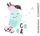 cool ice cream ride on...   Shutterstock .eps vector #1115640017