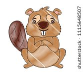 beaver of canada isolated icon   Shutterstock .eps vector #1115648507