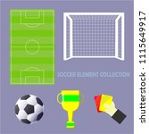 soccer element collection....   Shutterstock .eps vector #1115649917