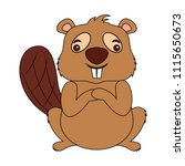 cute beaver cartoon animal image   Shutterstock .eps vector #1115650673