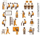 student and scholar people in... | Shutterstock .eps vector #1115652377