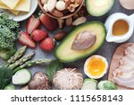 keto  ketogenic diet  low carb  ... | Shutterstock . vector #1115658143