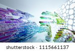 abstract white and colored... | Shutterstock . vector #1115661137