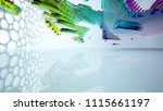 abstract white and colored... | Shutterstock . vector #1115661197