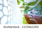 abstract white and colored... | Shutterstock . vector #1115661203