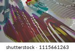 abstract white and colored... | Shutterstock . vector #1115661263
