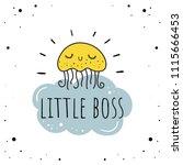 """little boss""   vector...   Shutterstock .eps vector #1115666453"