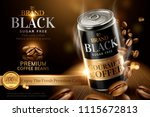 premium black canned coffee...   Shutterstock .eps vector #1115672813