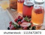 kombucha second fermented fruit ... | Shutterstock . vector #1115672873