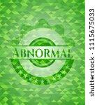 abnormal green mosaic emblem | Shutterstock .eps vector #1115675033