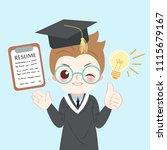 cute cartoon graduate on the...   Shutterstock .eps vector #1115679167