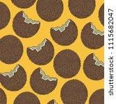 fresh coconut tropical fruit... | Shutterstock .eps vector #1115682047