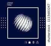earth logo   grunge effect | Shutterstock .eps vector #1115683247