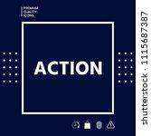 action button symbol   Shutterstock .eps vector #1115687387