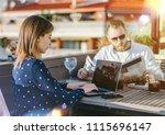 business team working on new... | Shutterstock . vector #1115696147