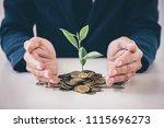 hands of businessman protection ... | Shutterstock . vector #1115696273