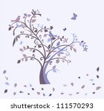 early morning autumn tree | Shutterstock .eps vector #111570293