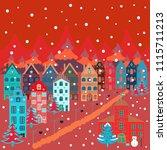 colorfil landscape for textile  ... | Shutterstock .eps vector #1115711213