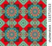 vector tribal ethnic ornament.... | Shutterstock .eps vector #1115713313