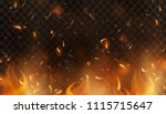 red fire sparks vector flying...   Shutterstock .eps vector #1115715647