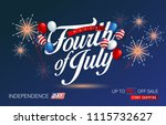 independence day usa sale... | Shutterstock .eps vector #1115732627