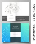 the vector layout of two a4... | Shutterstock .eps vector #1115742227