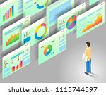 data analytics concept. vector... | Shutterstock .eps vector #1115744597