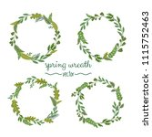 collection of green spring... | Shutterstock .eps vector #1115752463