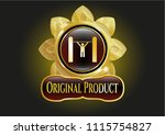 gold badge or emblem with pull ... | Shutterstock .eps vector #1115754827