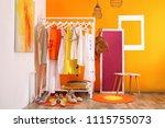 stylish dressing room interior... | Shutterstock . vector #1115755073