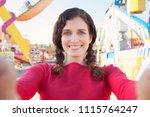 portrait of beautiful tourist... | Shutterstock . vector #1115764247