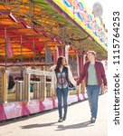 happy beautiful tourist couple... | Shutterstock . vector #1115764253
