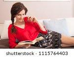 healthy beautiful woman... | Shutterstock . vector #1115764403