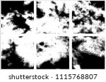 set of grunge textures black... | Shutterstock .eps vector #1115768807