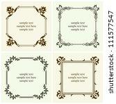 vector decorative text frames | Shutterstock .eps vector #111577547