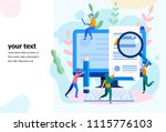 concept blogging  education ... | Shutterstock .eps vector #1115776103
