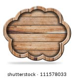 wood speech bubbles cloud icon  ... | Shutterstock . vector #111578033