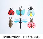 the insect is made of paper....   Shutterstock . vector #1115783333