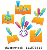 all about writing  vector... | Shutterstock .eps vector #111578513